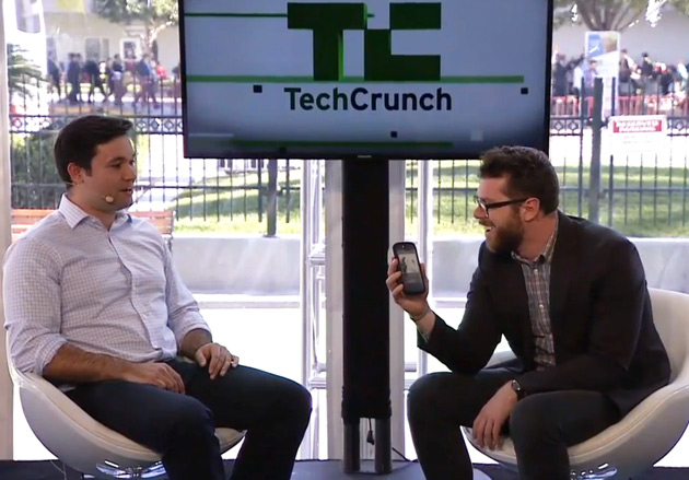 Sharif Sakr talking to TechCrunch